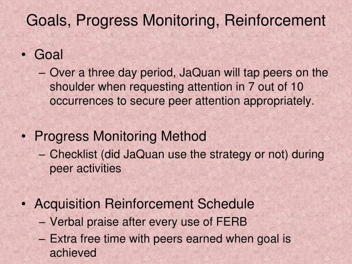 Goals, Progress Monitoring, Reinforcement