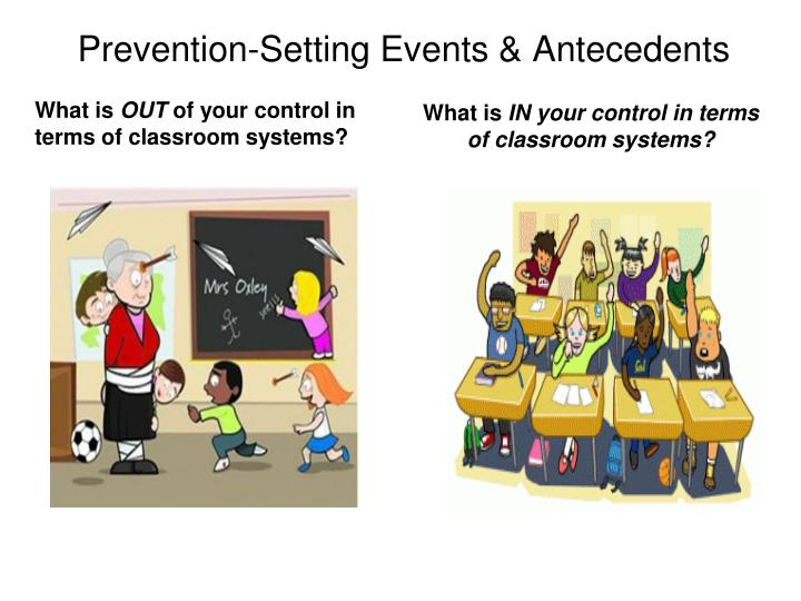 Prevention-Setting Events & Antecedents