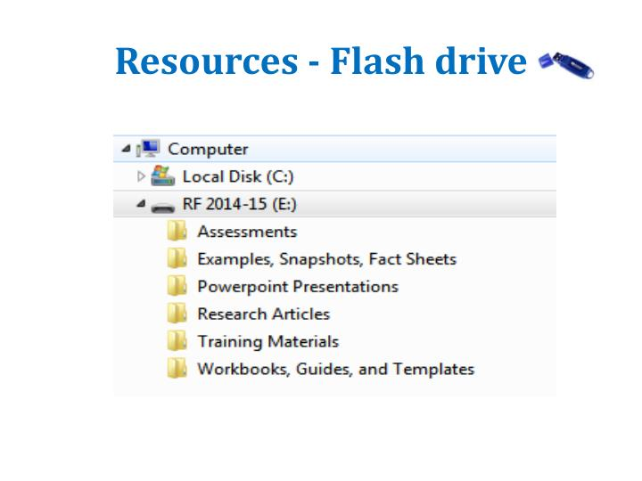 Resources - Flash drive