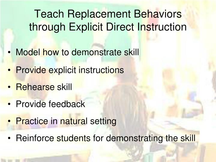 Teach Replacement Behaviors