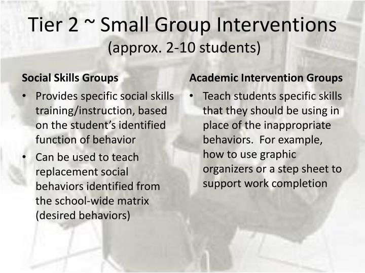 Tier 2 ~ Small Group