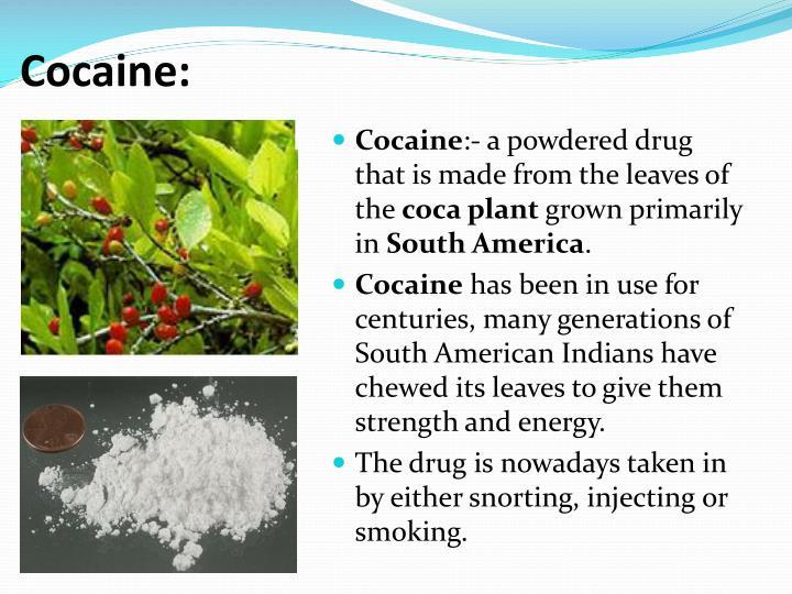 Cocaine: