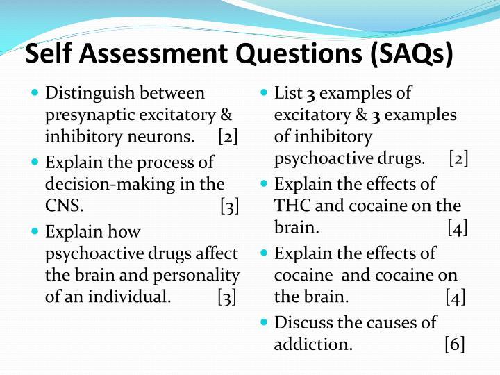 Self Assessment Questions (SAQs)