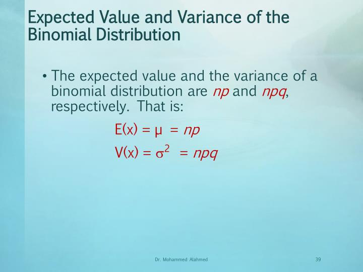 Expected Value and