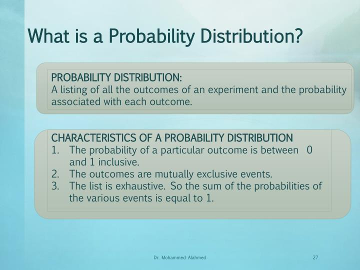 What is a Probability