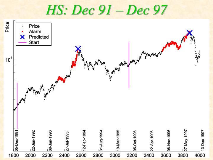 HS: Dec 91 – Dec 97