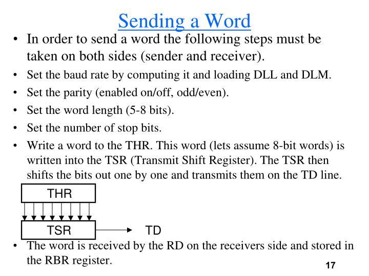 Sending a Word