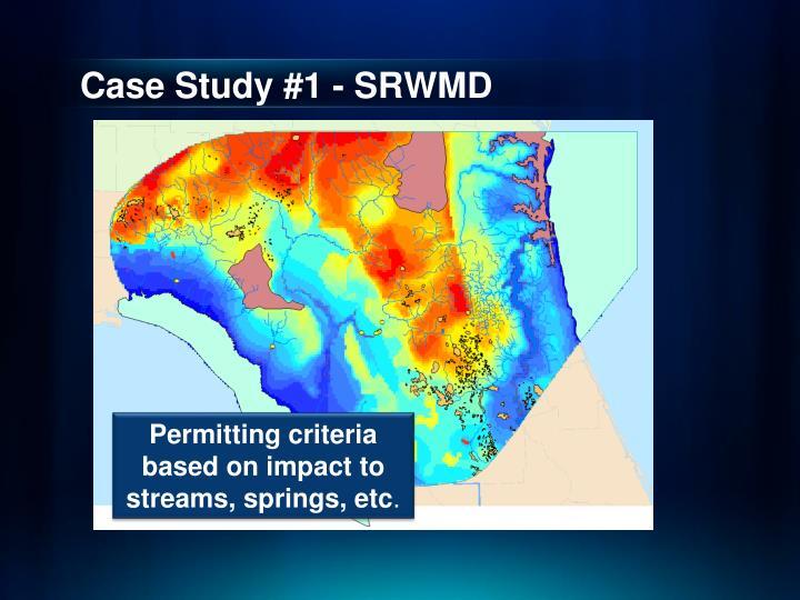 Case Study #1 - SRWMD
