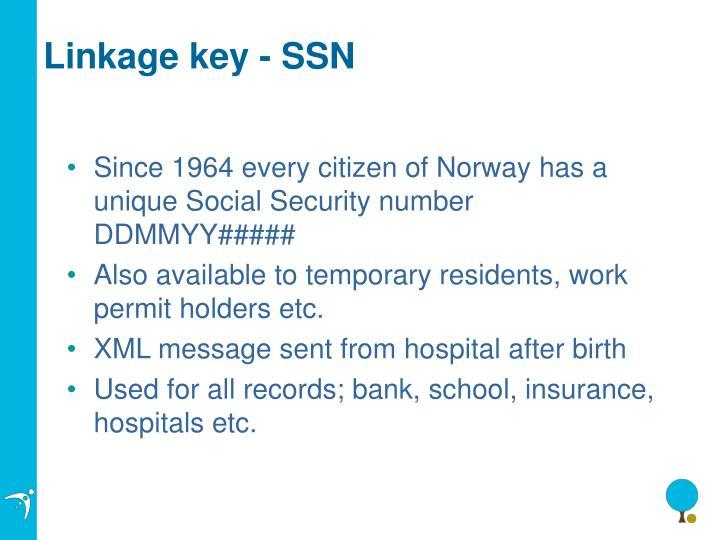 Linkage key - SSN