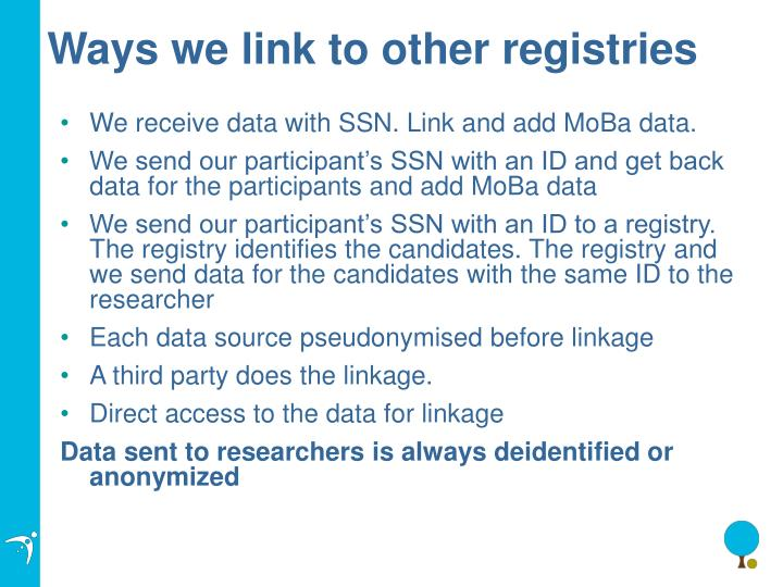 Ways we link to other registries