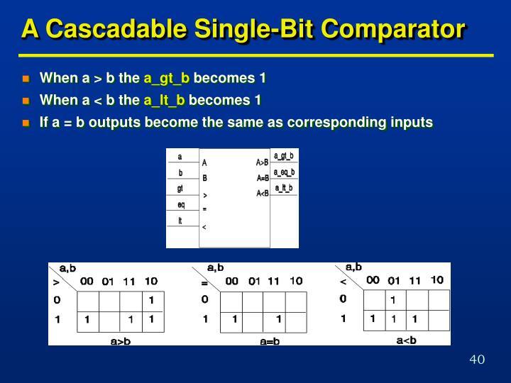 A Cascadable Single-Bit Comparator