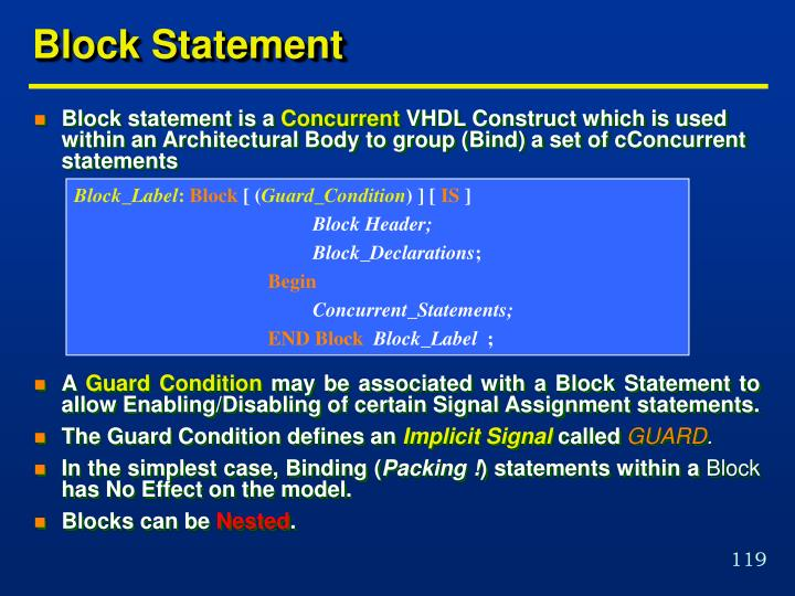 Block Statement