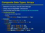 composite data types arrays