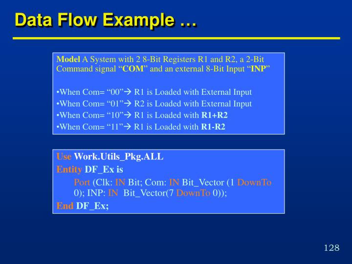 Data Flow Example …