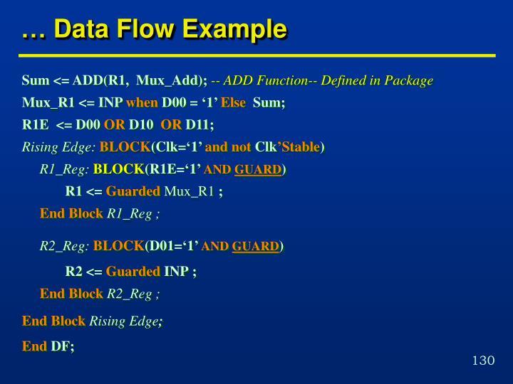 … Data Flow Example