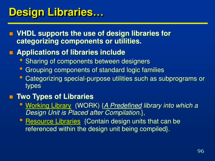 Design Libraries…