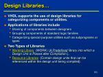 design libraries