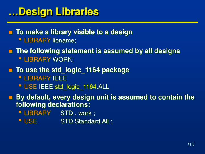 …Design Libraries