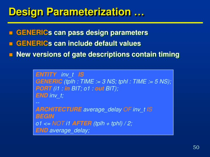 Design Parameterization …