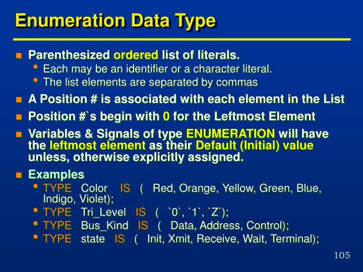 Enumeration Data Type
