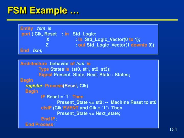 FSM Example …