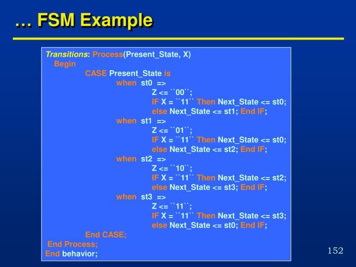 … FSM Example