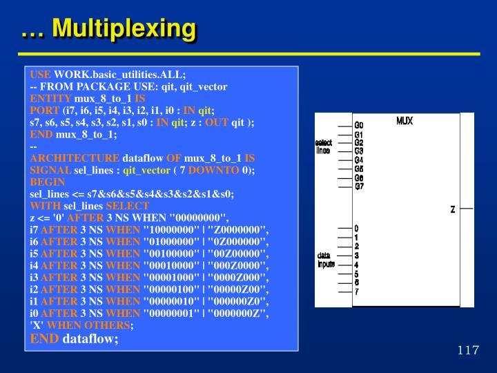 … Multiplexing