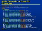 netlist description of single bit comparator