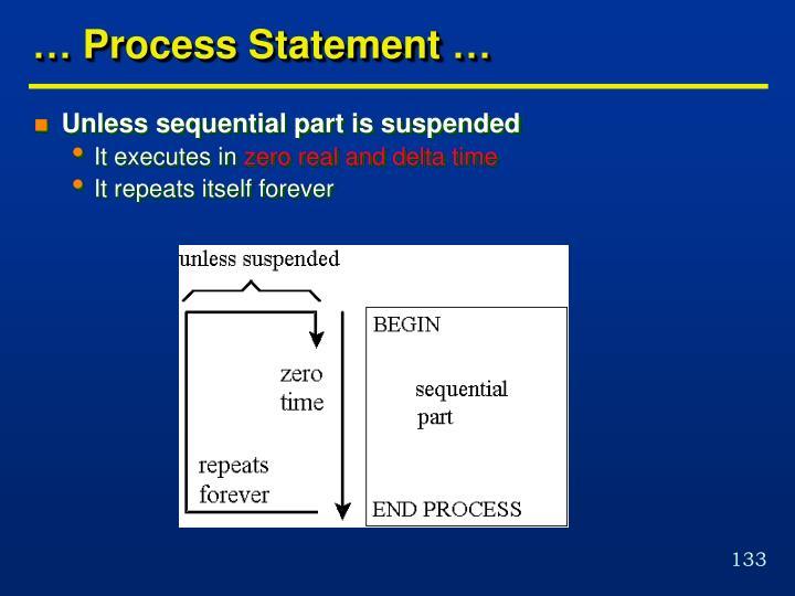 … Process Statement …