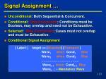 signal assignment
