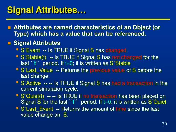 Signal Attributes…