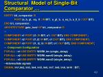 structural model of single bit comparator