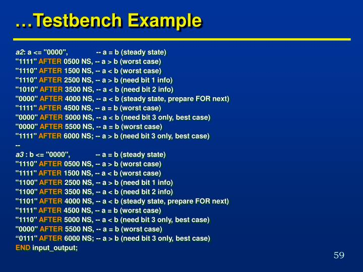 …Testbench Example