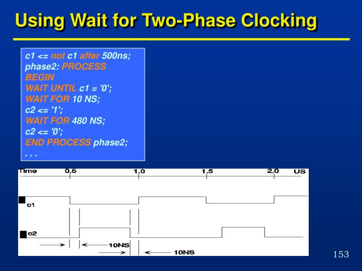 Using Wait for Two-Phase Clocking