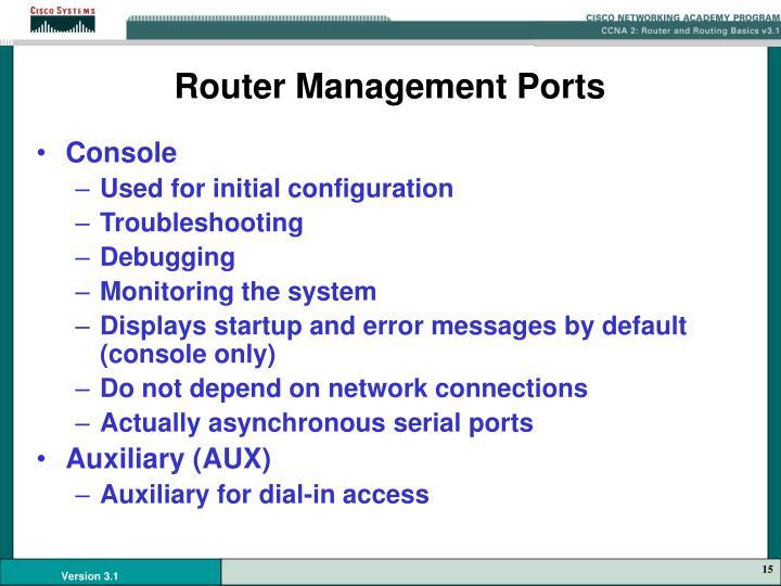 Router Management Ports