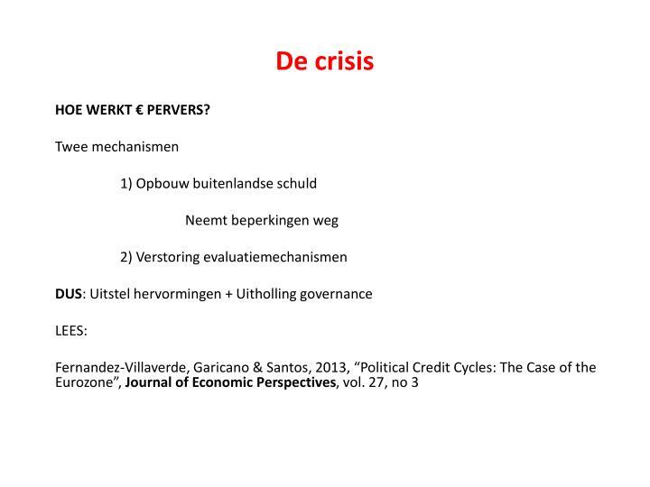 De crisis