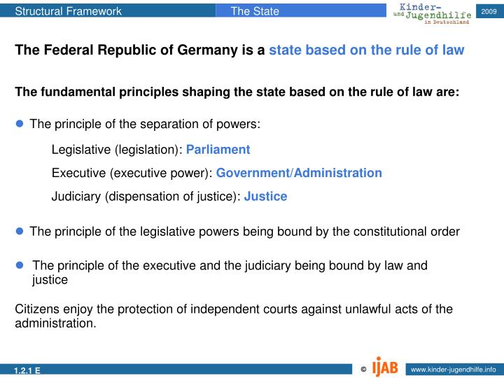 The Federal Republic of Germany is a