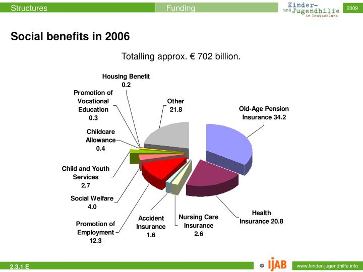Social benefits in 2006