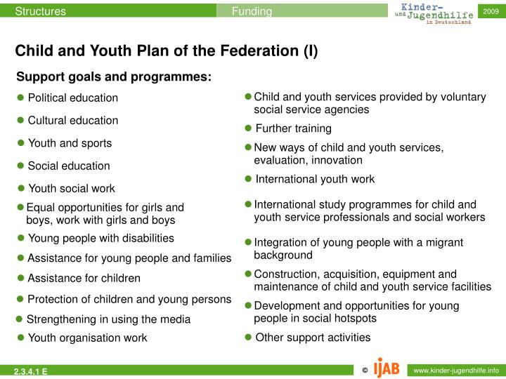 Child and Youth Plan of the Federation (I)