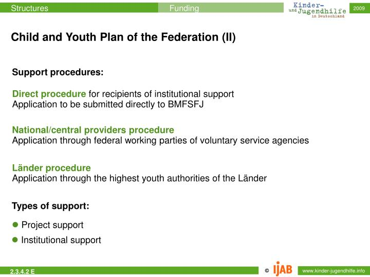 Child and Youth Plan of the Federation (II)