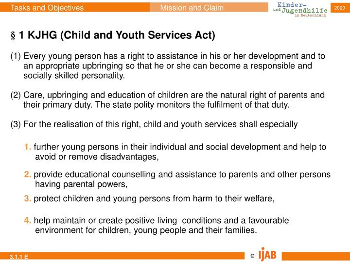 § 1 KJHG (Child and Youth Services Act)