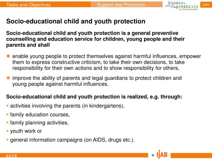 Socio-educational child and youth protection