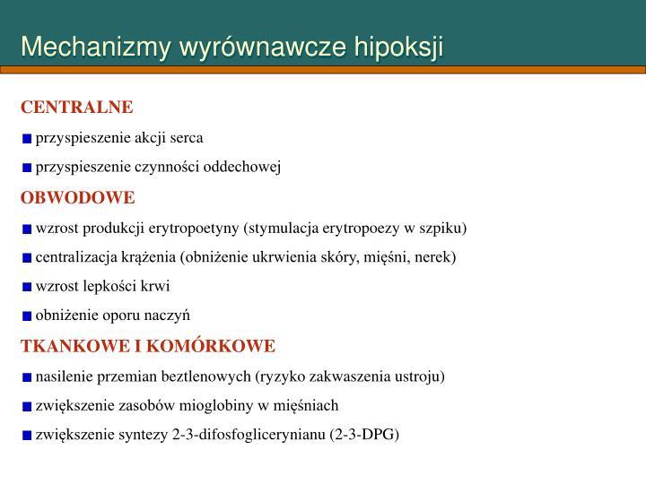 Mechanizmy wyrównawcze hipoksji