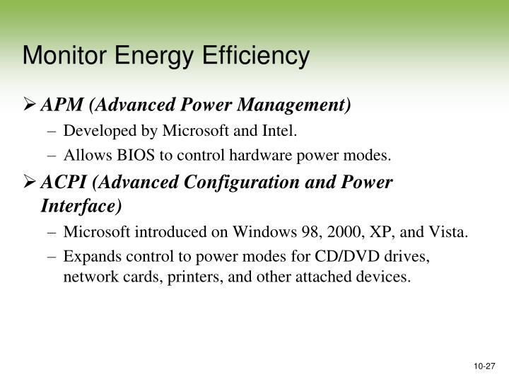 Monitor Energy Efficiency