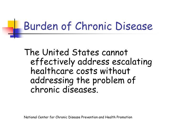 Burden of Chronic Disease