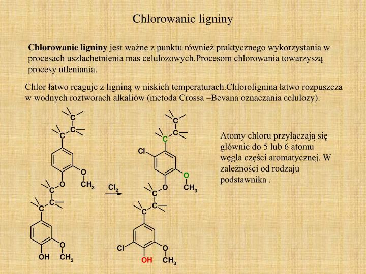 Chlorowanie ligniny