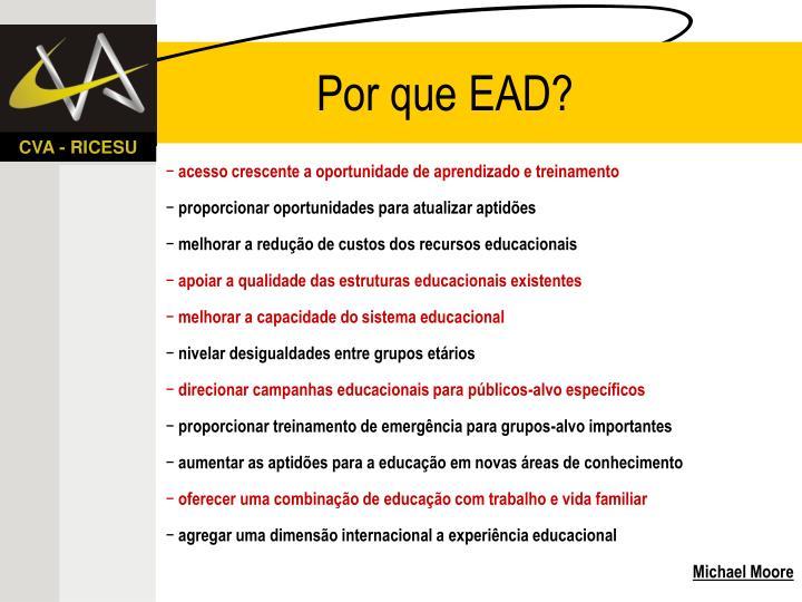Por que EAD?