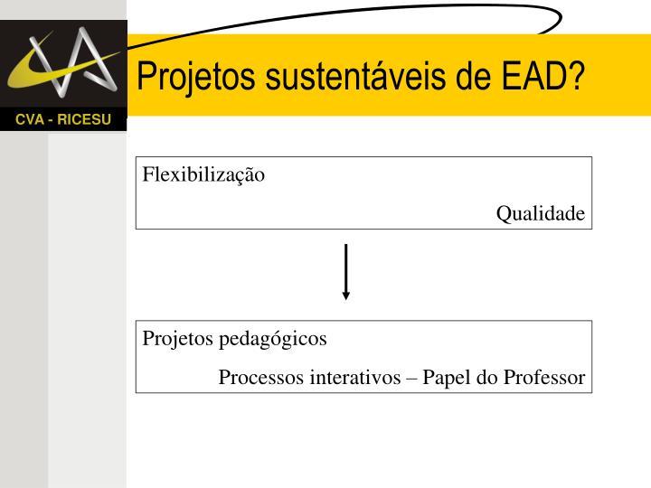 Projetos sustentáveis de EAD?