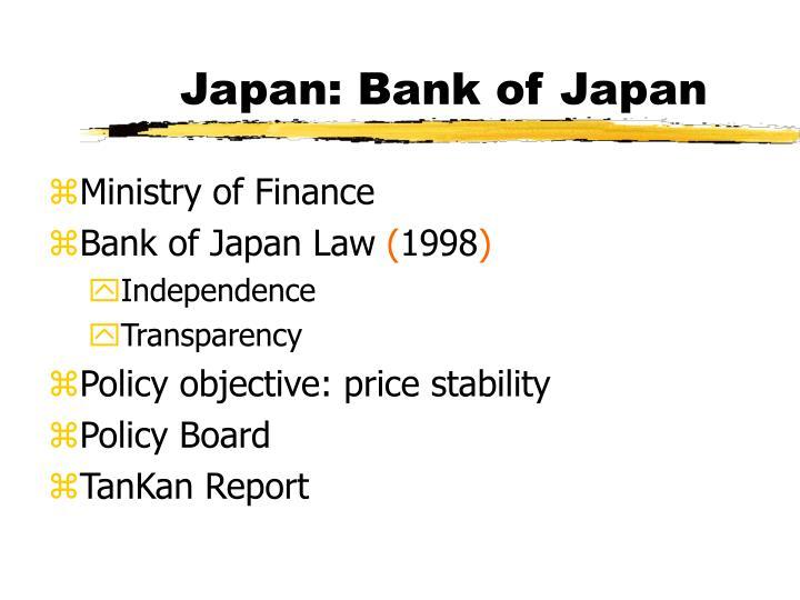 Japan: Bank of Japan