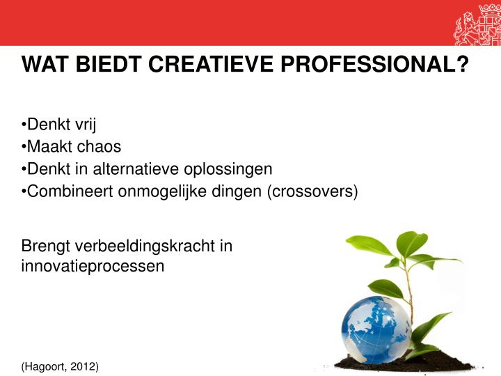 WAT BIEDT CREATIEVE PROFESSIONAL?